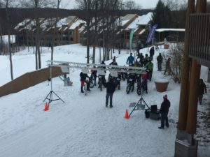 Fat Bike race starting line